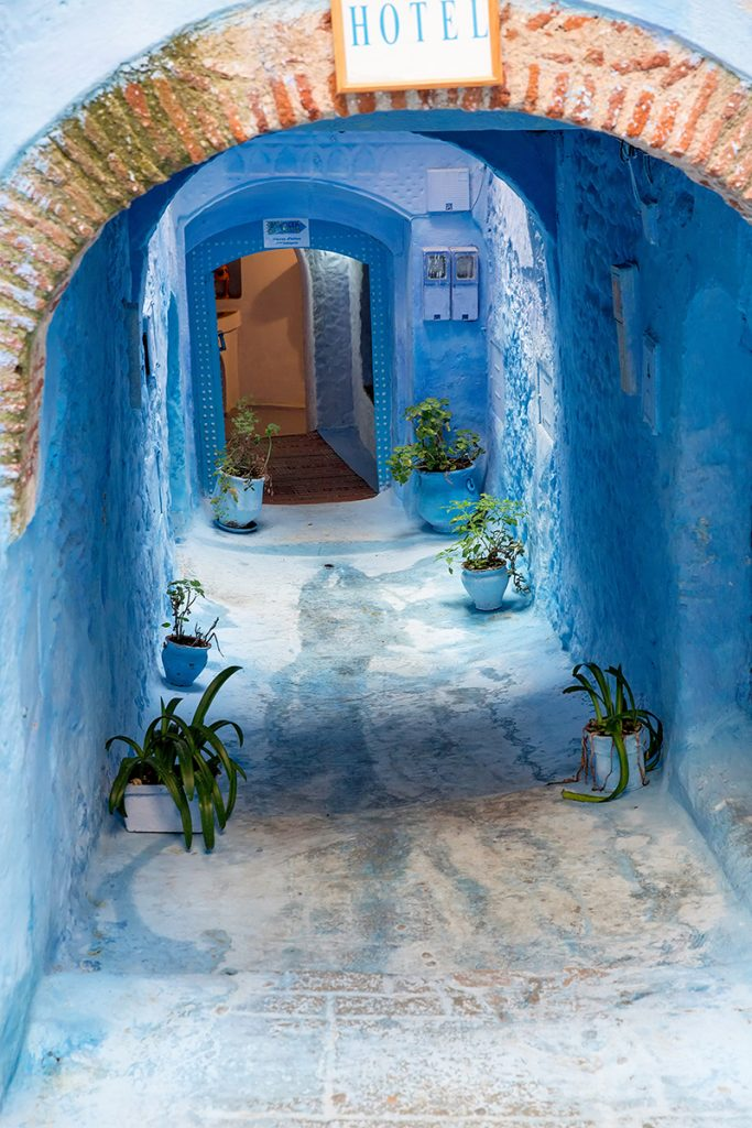 Szewszawan,Maroko,medyna,hotel,niebieski