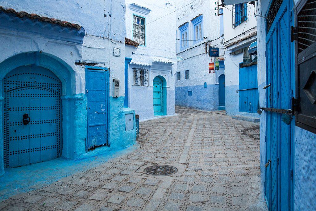 Szewszawan,Maroko,medyna,niebieski,drzwi