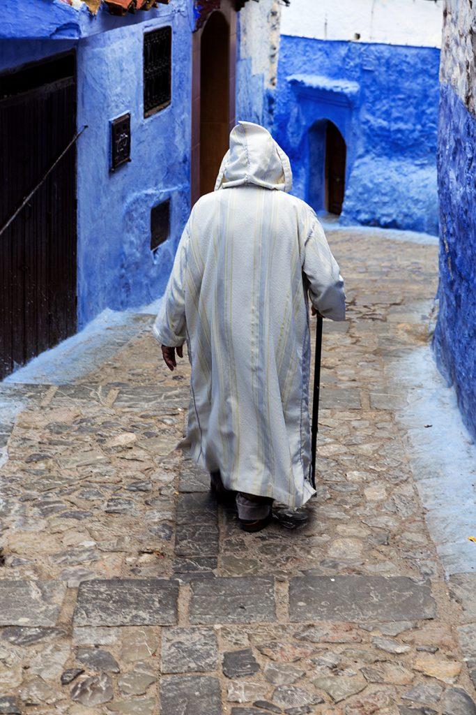 Szewszawan,Maroko,medyna,człowiek,uliczka