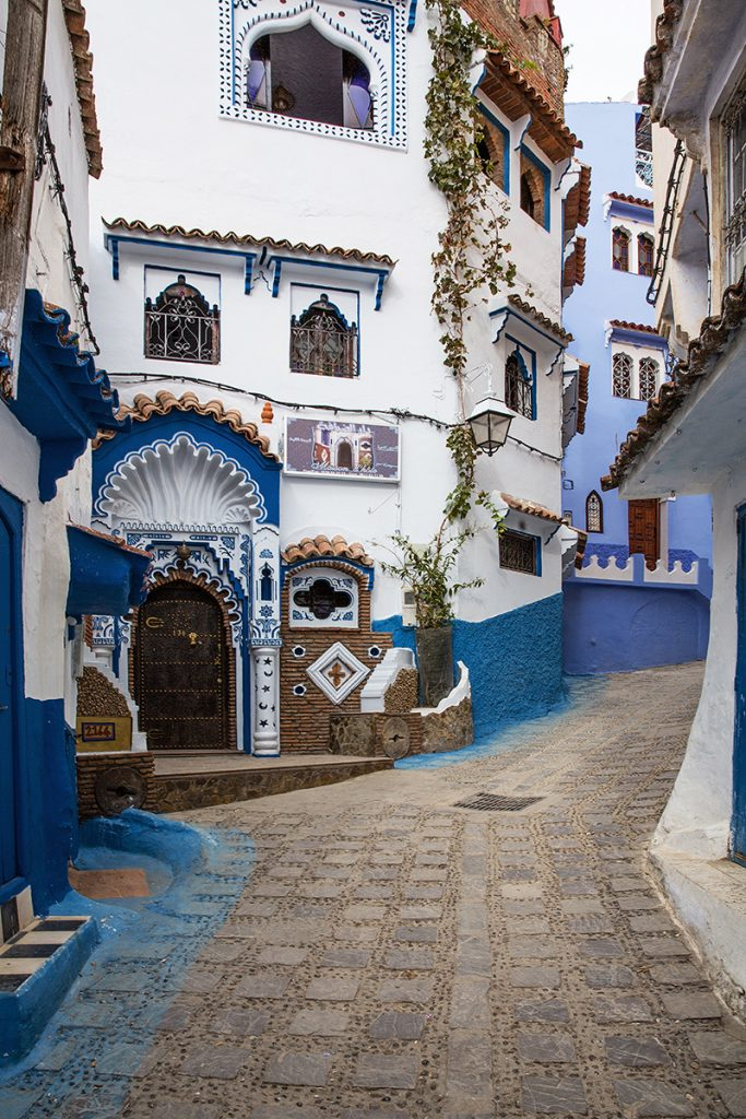 Szewszawan,Maroko,medyna,kolory,uliczka