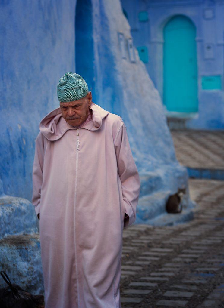 Szewszawan,Maroko,medyna,człowiek