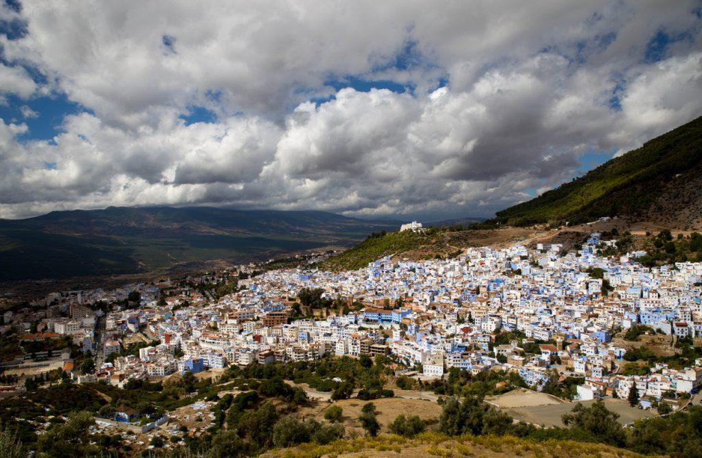 Szewszawan,Maroko,domy,niebieski