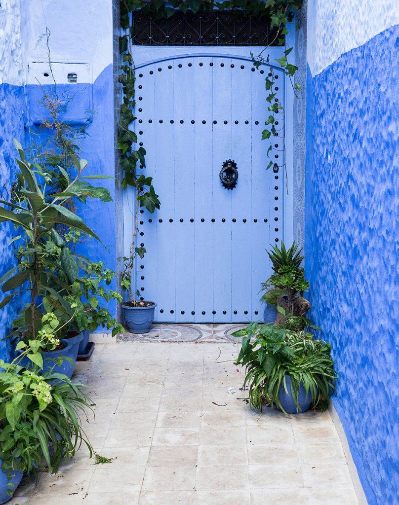 Szewszawan,Maroko,drzwi,zieleń