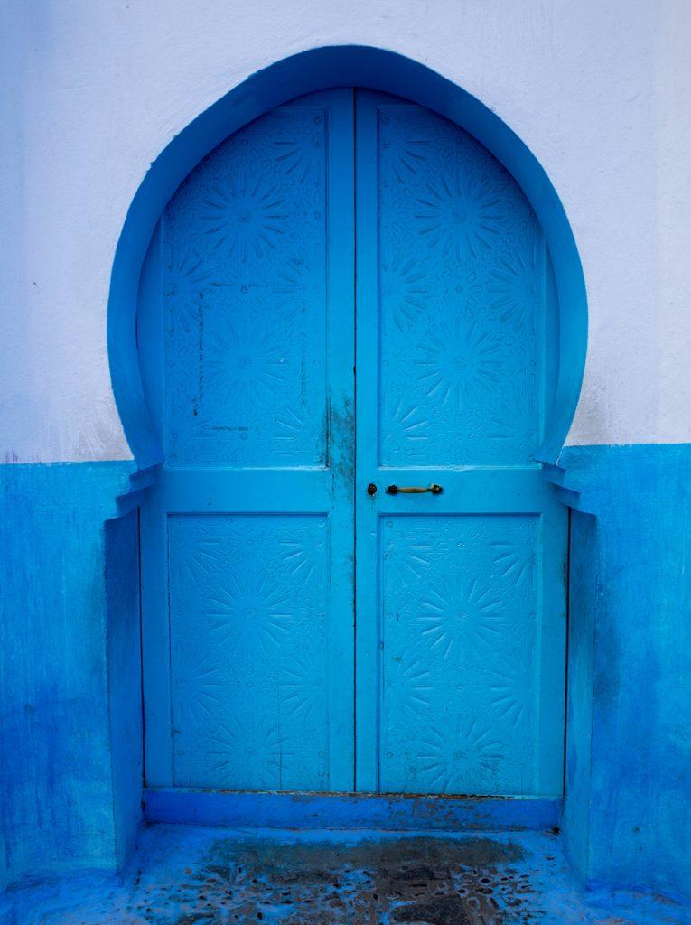 Szewszawan,Maroko,medyna,niebieskie drzwi