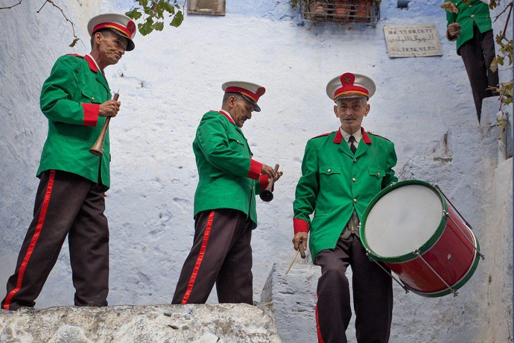 Szewszawan,Maroko,ludzie,orkiestra