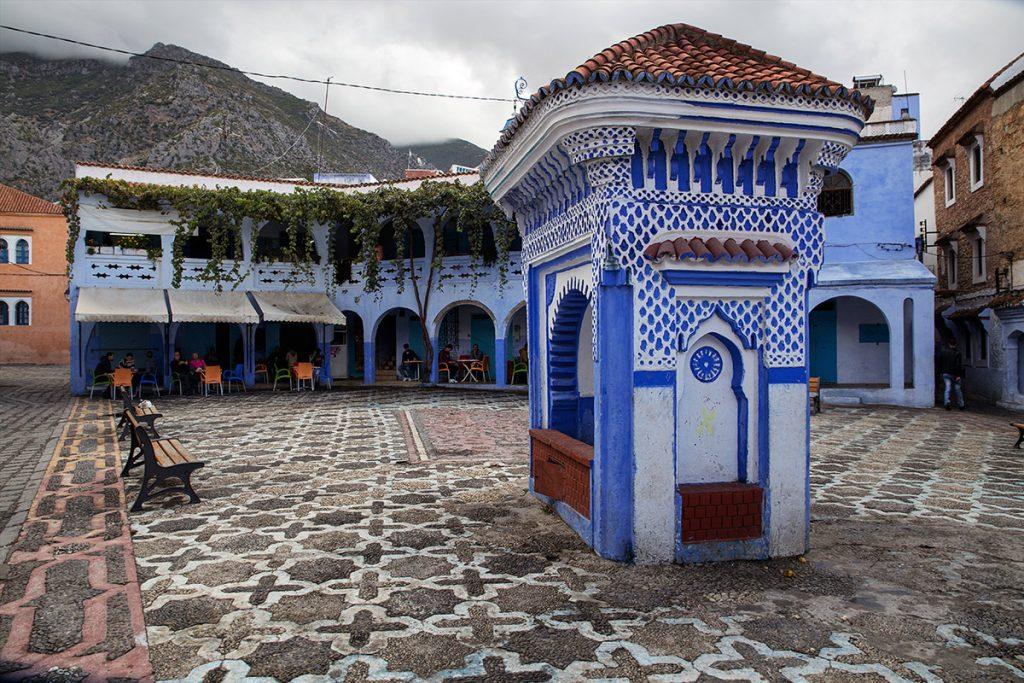 Szewszawan,Maroko,plac,fontanna