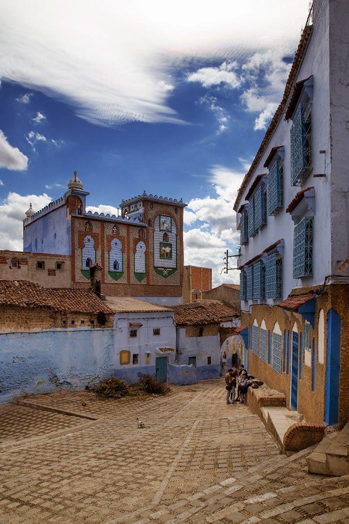 Szewszawan,Maroko,plac,budynki,spotkanie