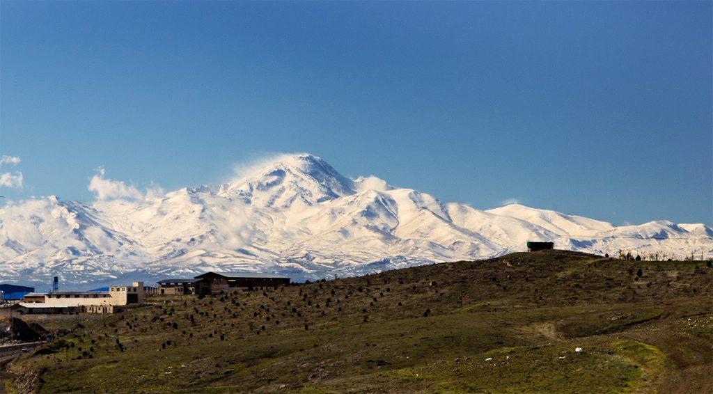 droga do Ardabil,Iran,wulkan Sabalan