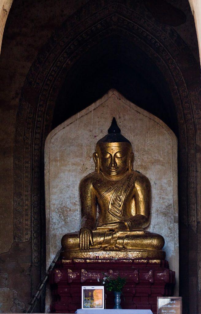 Wnętrze pagody,birma,bagan