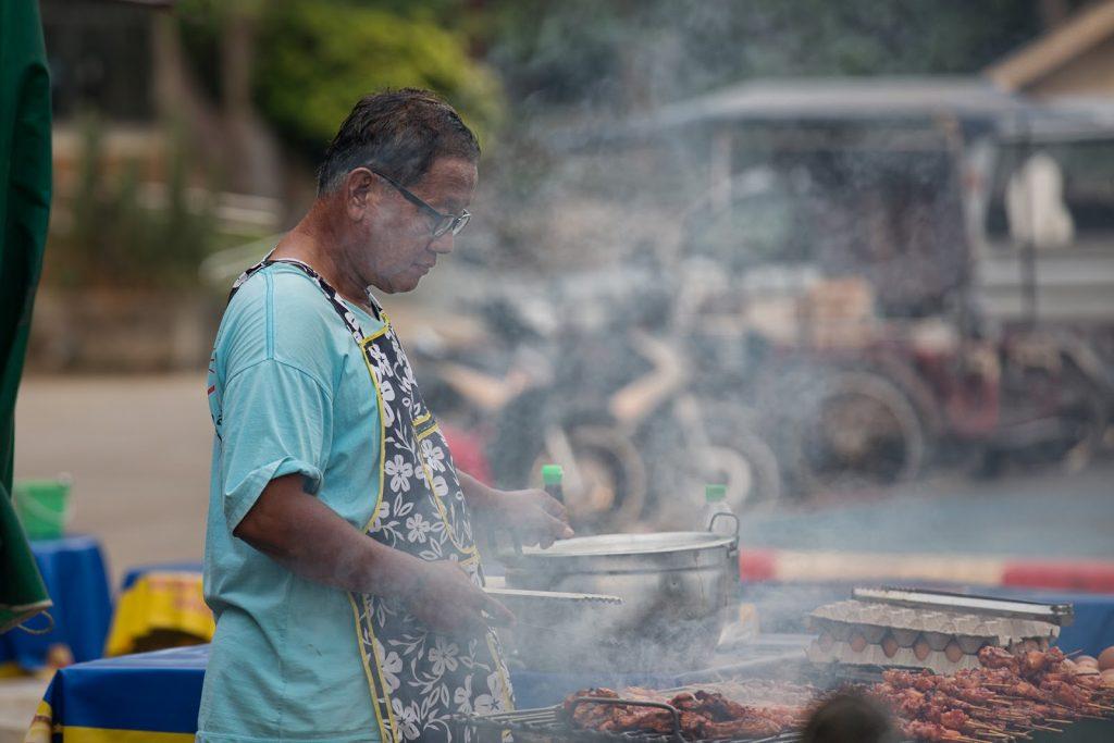grill,wioska,Tajlandia