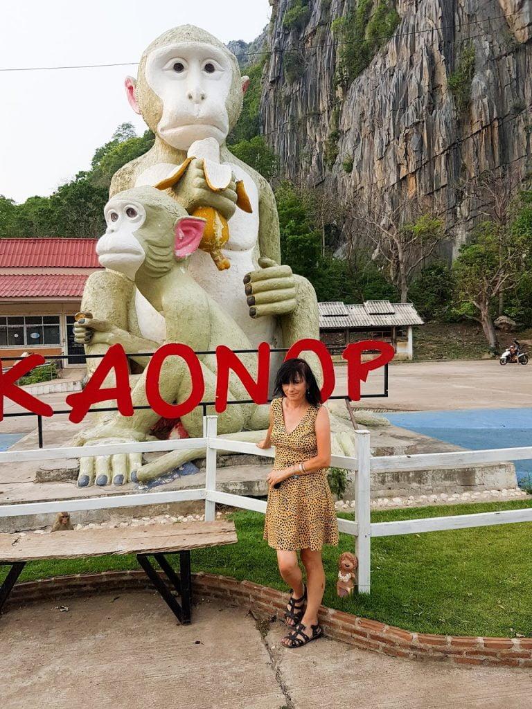 statua małpy,Tajlandia